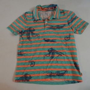 GAP Kids Size S (6-7) Octopus Polo Shirt Pre-owned